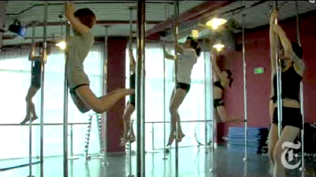 Chinese pole dancing