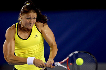 Dinara Safina Arms at Australian Open